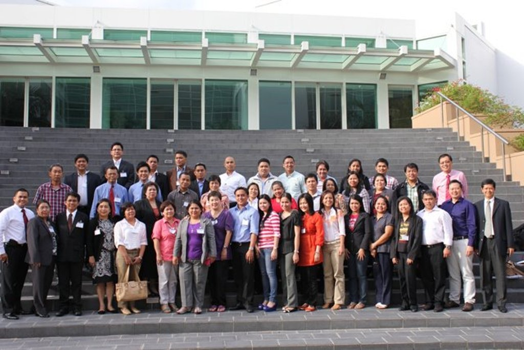 Delegates during the study visit in Singapore
